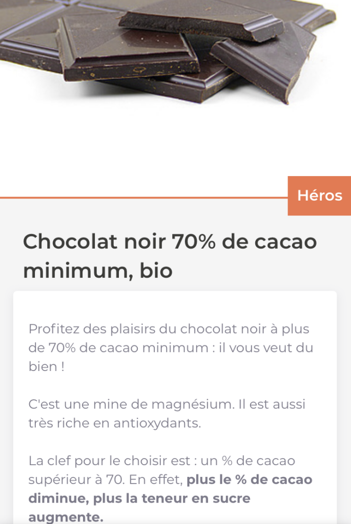 Page Chocolat 1Food1Me
