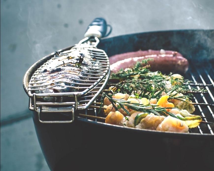 Barbecue viande marinée